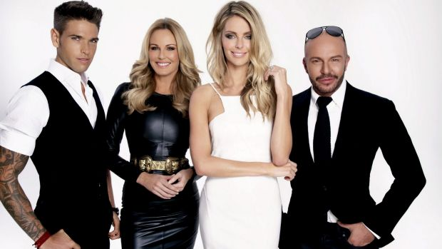 Australia's Next Top Model judges Didier Cohen, Charlotte Dawson and Alex Perry with Holmesville-raised Jennifer Hawkins ...