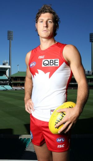 Kurt Tippett played 74 games in four seasons with the Swans.