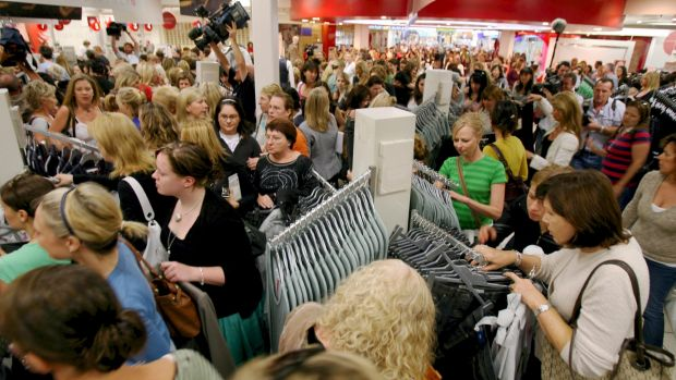 """""""A different era"""" ... Target's collaboration with Stella McCartney, in 2007, caused mayhem in stores."""