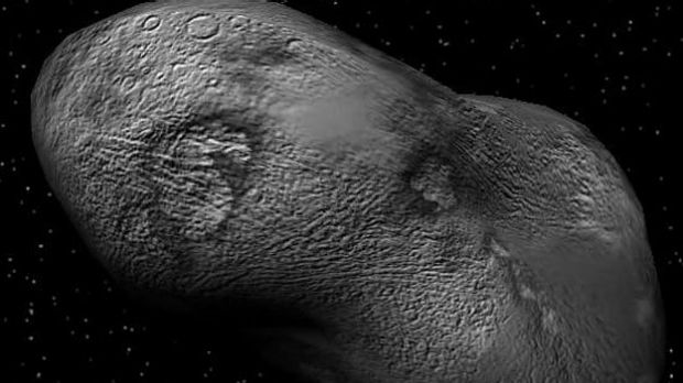 Spud-shaped asteroids like this come from the densely populated asteroid belt, between Mars and Jupiter.