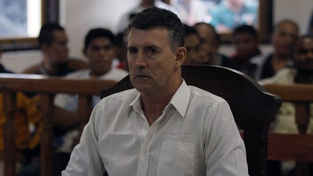 Scott Dobson during his trial at Denpasar District Court in Bali, on Wednesday.