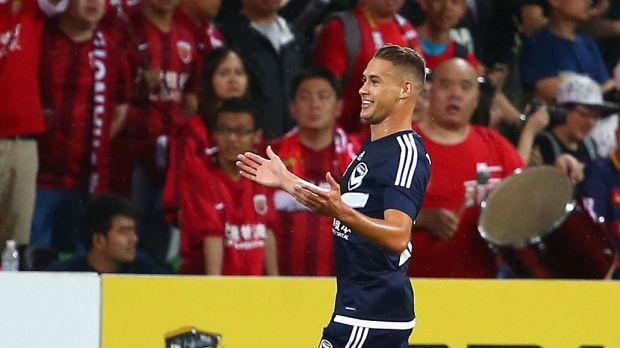 Man of the moment: Jai Ingham of Melbourne Victory.