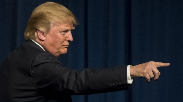 Pointed anger: Donald Trump takes Nevada.