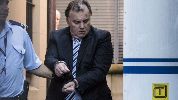 Glen McNamara outside court in February.