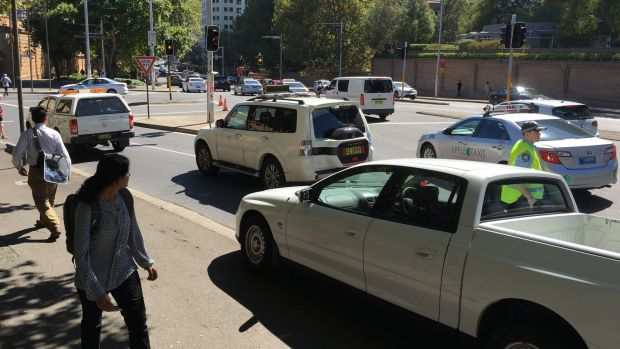 Major traffic delays were experienced around Sydney's CBD during the operation.