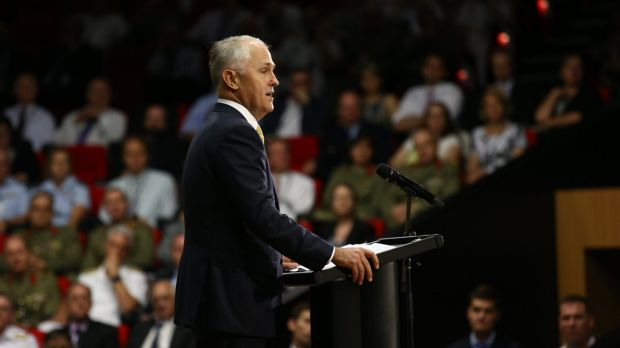 Prime Minister Malcolm Turnbull launches the Defence white paper.