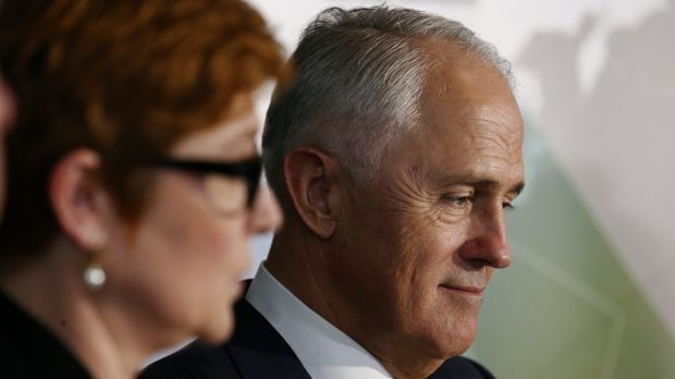 Prime Minister Malcolm Turnbull launches the 2016 defence white paper with Defence Minister Senator Marise Payne on Thursday.