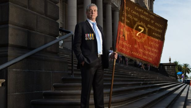 Convener of the World War I 7th Battalion Association, David Laird, says WWI descendants should be able to march with ...