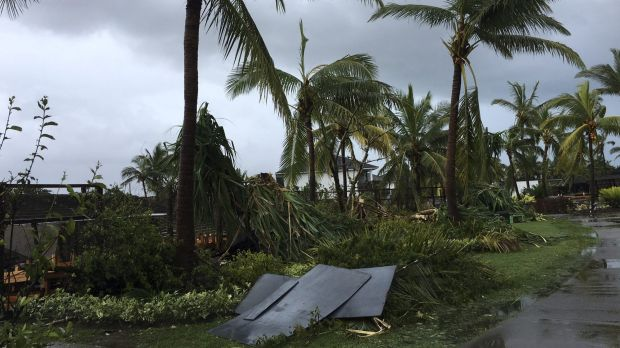 Debris after the cyclone.