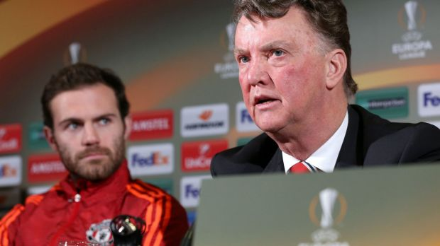 Way with words: Manchester United manager Louis van Gaal.