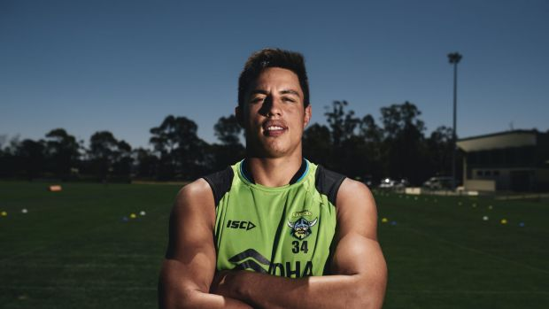Canberra Raiders recruit Joseph Tapine joined his new teammates for the first time on Thursday after signing a four-year ...