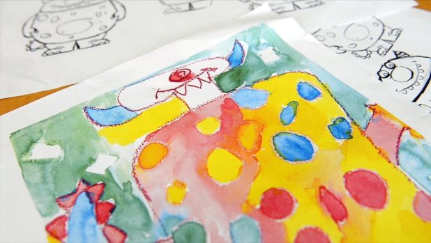 The monsters were modeled from children's drawings.
