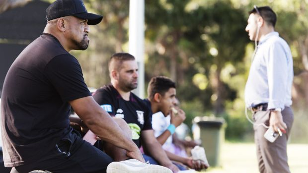 Sidelined: John Hopoate has been stood down from coaching Manly's SG Ball team.