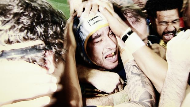 They did it: A still from 2016 NRL television commercial.
