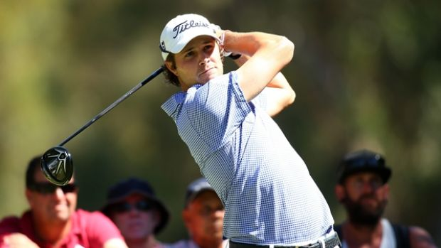 Peter Uihlein takes a one-shot lead into the second round of the Perth International at Lake Karrinyup.