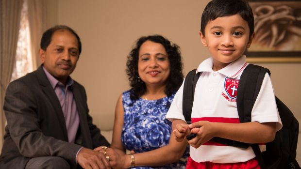 Kumar and Chandrika Fernando will pay for their grandson's school fees.