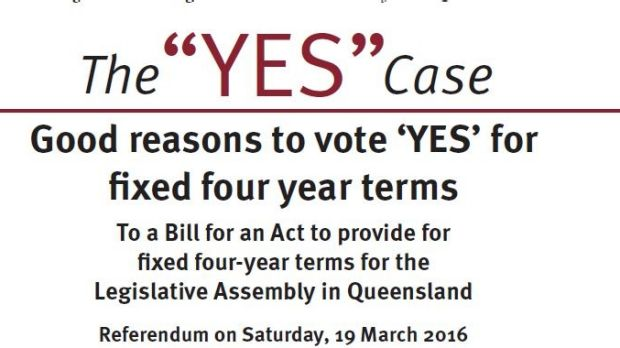 "The ""Yes"" campaign brochure features a bolder font."