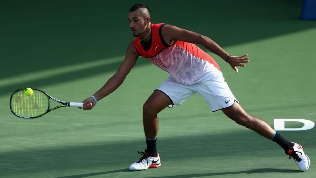 In good form: Nick Kyrgios beats Tomas Berdych to set up a meeting with Stan Wawrinka in Dubai.