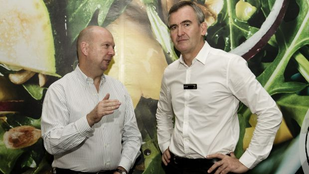 Woolworths chairman Gordon Cairns, left, and new CEO Brad Banducci have committed to fixing the culture at Australia's ...
