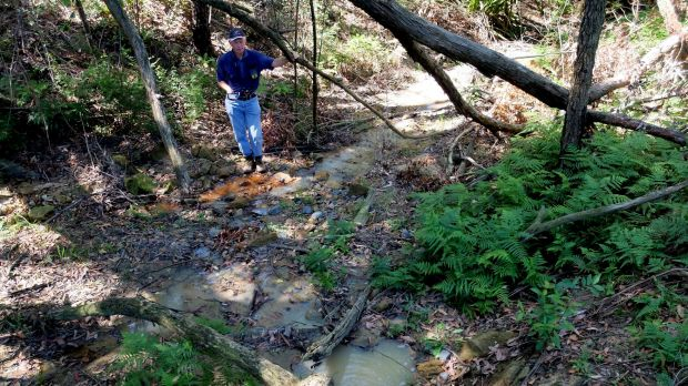 Residents have warned leachate and stormwater run-off from the mega dump at Mangrove Mountain is endangering the ...