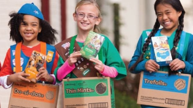 The Girl Scouts of Eastern Missouri ready for a cookie drive.