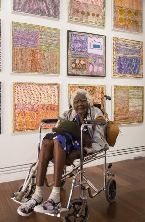 Loongkoonan at the Art Gallery of South Australia where her work is on display for the Adelaide Biennial.