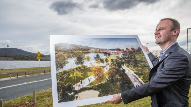 Chief Minister Andrew Barr at the announcement of the first stage of the West Basin transformation, part of the ...