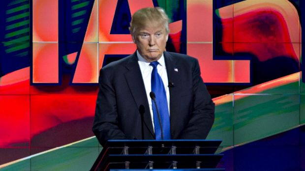 Donald Trump at Thursday's Republican debate.