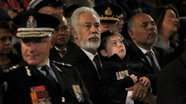 Former East Timorese president and prime minister Xanana Gusmao at the ANZAC Day dawn service in Martin Place, Sydney, ...