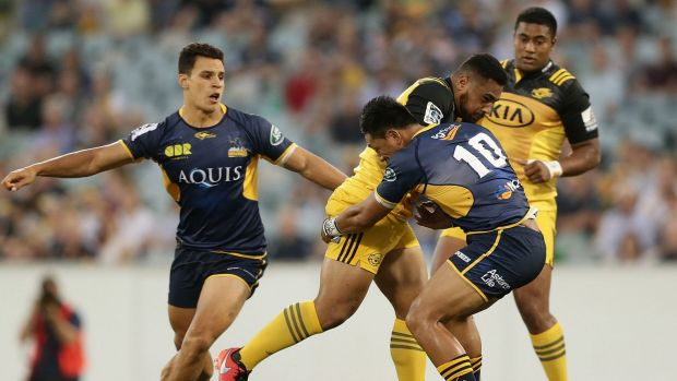 Ngani Laumape made his Super Rugby debut against the Brumbies last year.