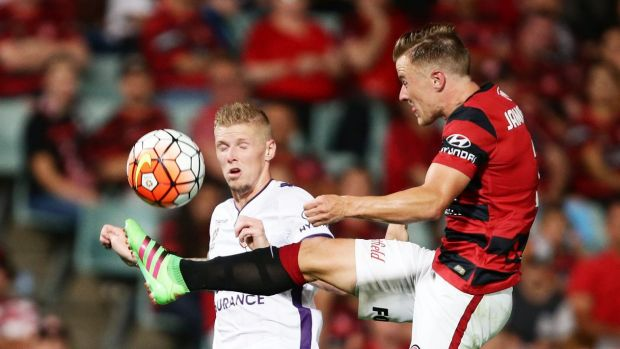 Still at the top: Scott Jamieson and the Wanderers ensured they will remain at the top of the A-League ladder.