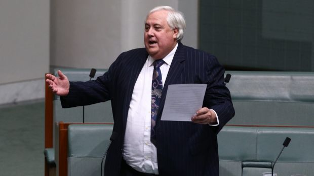 Sister City Partners director Mark Dunworth says Clive Palmer, pictured in Federal Parliament, is open to selling ...