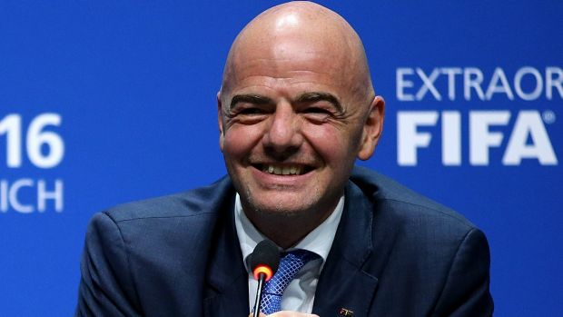 Man in charge: The new FIFA president Gianni Infantino.