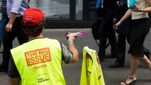 The Big Issue's vendors are 85 per cent male, despite women making up nearly half of Australia's homeless population.