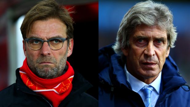 Rivals: Liverpool manager Juergen Klopp and Manchester City boss Manuel Pellegrini go head to head in the League Cup.