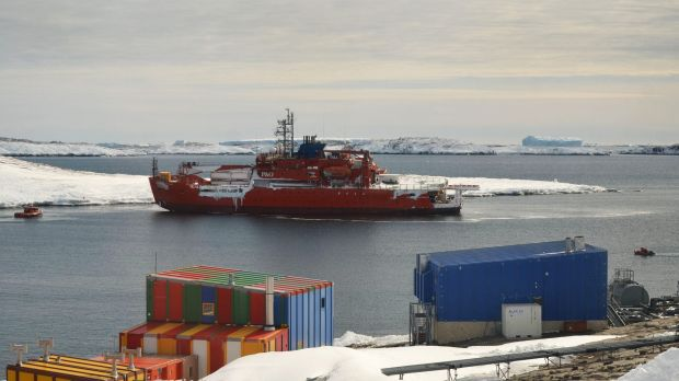 The ship is now in the vicinity of Mawson Habour and awaiting assessment.