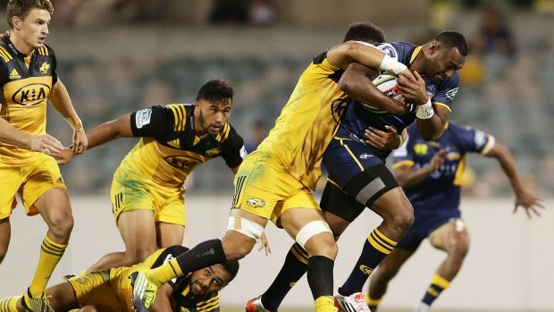 Tevita Kuridrani will be a key cog in the Brumbies' hopes of beating the Hurricanes.