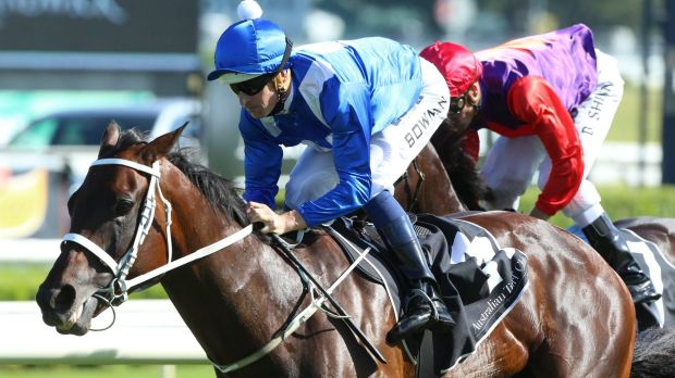 That'll do: Hugh Bowman rides Winx to win the Chipping Norton Stakes at Randwick.