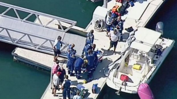 One man has died and another airlifted to the Royal North Shore Hospital after a yacht collision at Pittwater.