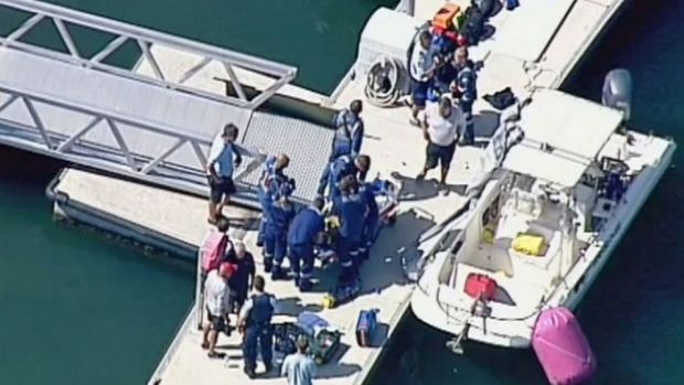 Yachtsman David Booth died and another sustained severe leg injuries in a yacht collision at Pittwater.