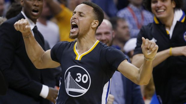 Record-breaker: Golden State's Steph Curry.