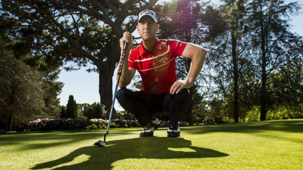 Tough time: Canberra golfer Brendan Jones has revealed he struggled with his mum's battle with cancer last year.