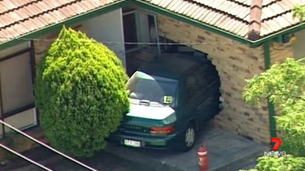 A car displaying L plates has crashed through a Clayton South home.