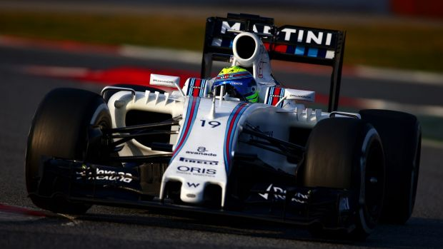 Track work: Felipe Massa on day four of winter testing at Circuit de Catalunya in Montmelo, Spain.