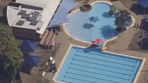 The Bethania pool in Logan, where a toddler drowned in Sunday.