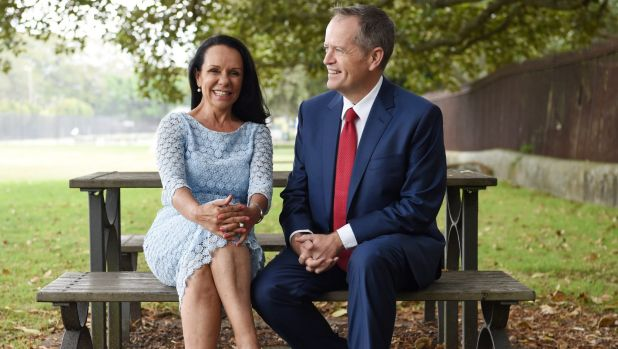 """It's about being able to affect people's lives at a federal level"": Linda Burney with Bill Shorten."