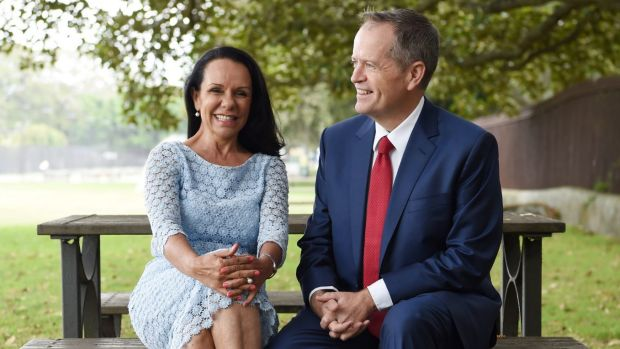 Linda Burney, pictured with Bill Shorten, has moved out of the shadow cabinet to contest the seat of Barton at this ...