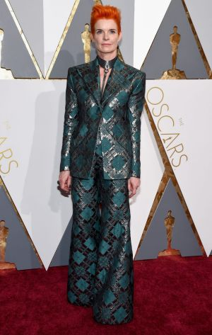 Costume designer Sandy Powell attends the 88th Annual Academy Awards.
