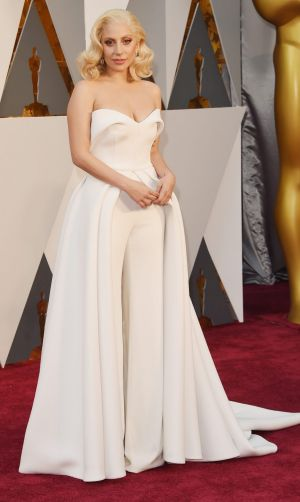 Lady Gaga attends the 88th Annual Academy Awards.