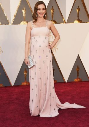 Emily Blunt attends the 88th Annual Academy Awards.